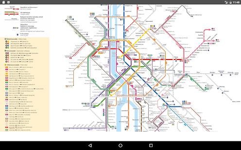 Budapest Subway 2017 Map - náhled