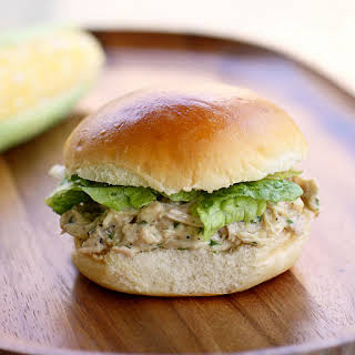 {Crock Pot} Chicken Caesar Sandwiches.