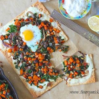 Ricotta and Sweet Potato Flatbread with Eggs!