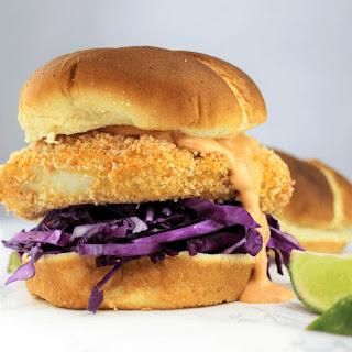 Crispy Baked Cod Sandwich.