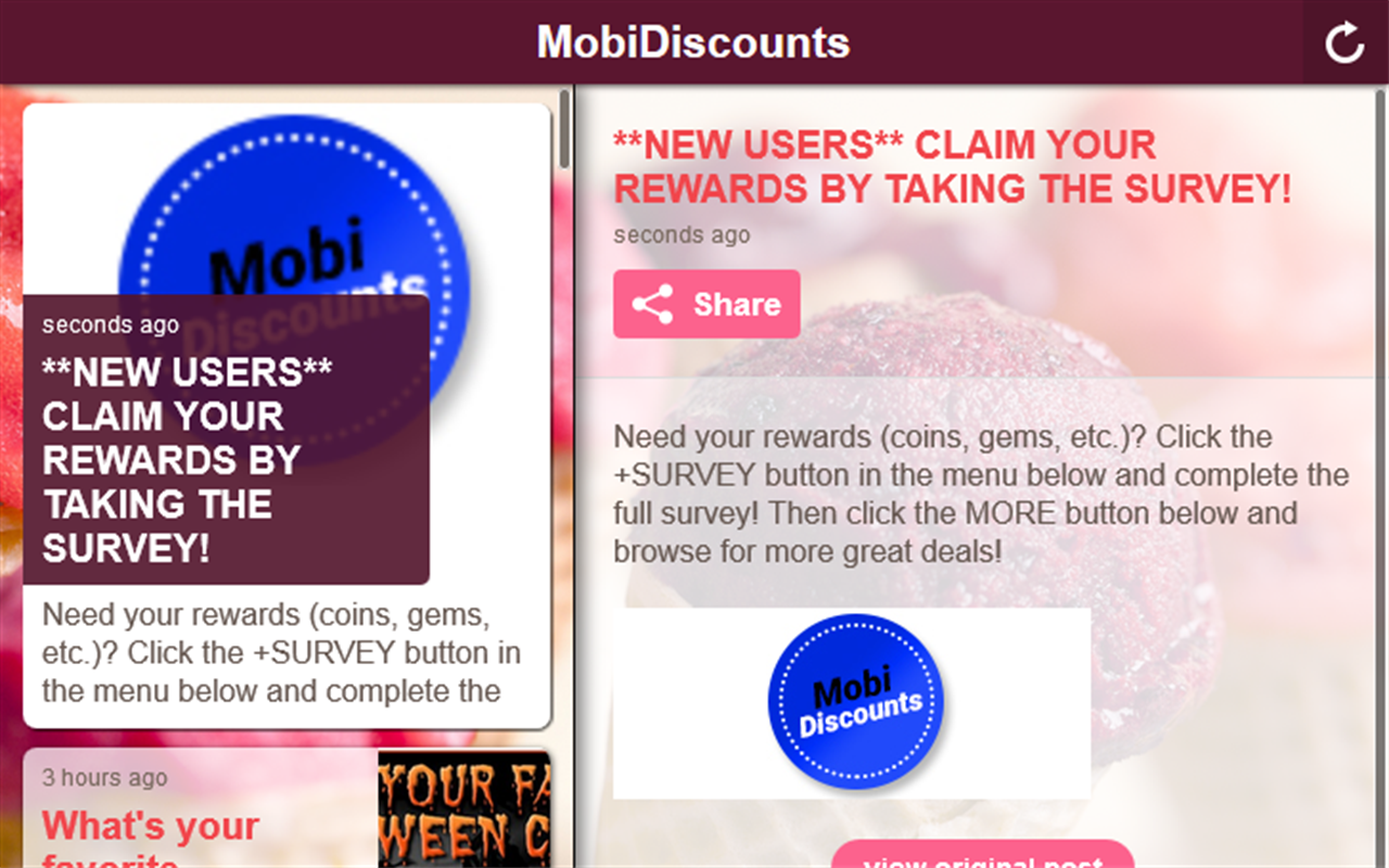 MobiDiscounts- screenshot