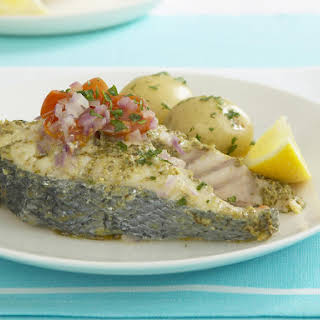 Easy Steamed Cod with Pesto.