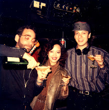 Photo: 1980 turns 1981. Mr Richard accesses my staff account for our first Moet of the year, Disco Disco, Hong Kong.  Jan 1 1981