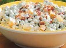 Cheddar Bacon Pea Salad Recipe