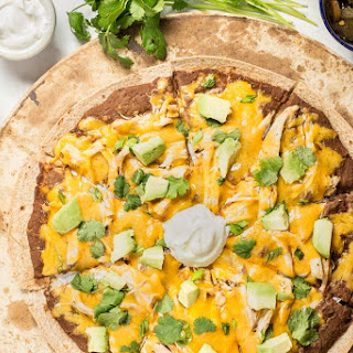 Healthy Mexican Style Pizza with Chicken.