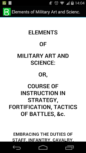 Military Art and Science