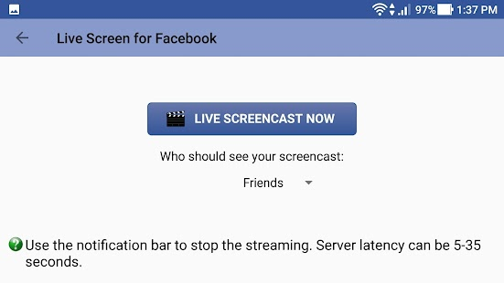 Live Screen for Facebook - náhled
