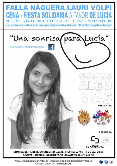 Fiesta Solidaria una sonrisa para Lucia en Naquera-Lauri Volpi