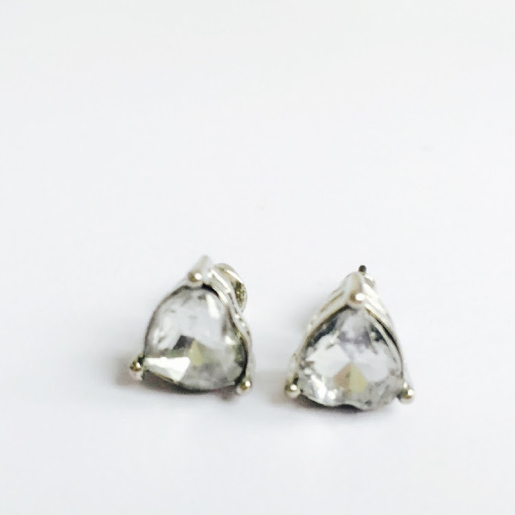E019_T - S. Stud in a glaze Earrings