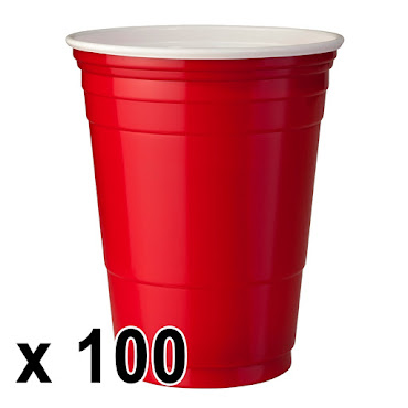 100 kpl. Red Cups Mukit (473ml./16 Oz.)