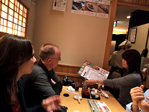 Photo: First meal in Japan-Sushi!