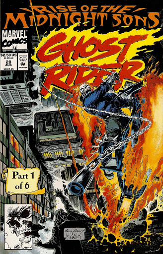 A Ghost Rider comic book cover.