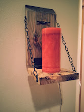 Photo: Rustic Candle mount (Natural Charred) $50