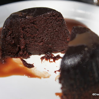 Epcot Food and Wine Festival Warm Chocolate Lava Cake with Baileys Ganache