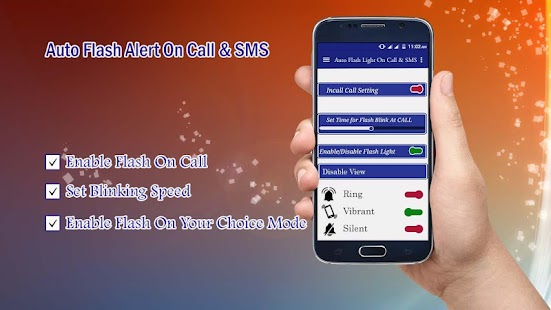 Automatic Flash On Call & SMS Screenshot