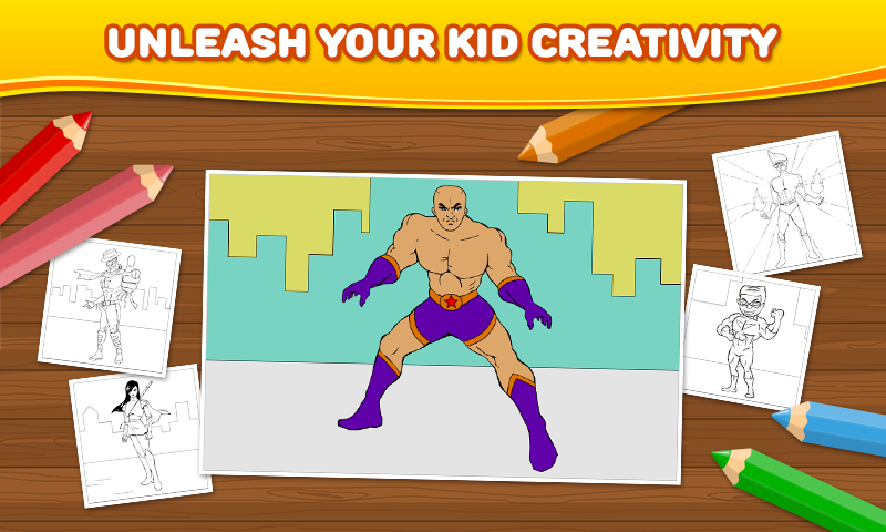 Superhero Coloring Games Online : Superhero: Kids Coloring Games Android Apps on Google Play