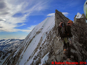 Photo: Ric_IMG_3516 io sulla Suldengrat, la cima sembra vicina e invece