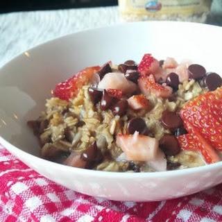 Breakfast in 10 - Warm Chocolate Strawberry Muesli.