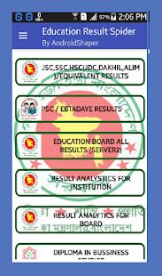 Education Result Spider - náhled
