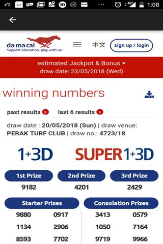 Live 4D Results! (MY, SG, KH, LA, THA, VNM & DE) 1 4 (Android