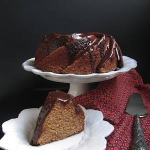 Chestnut Spice Cake with Chocolate Glaze