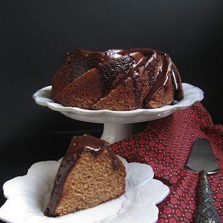 Chestnut Spice Cake with Chocolate Glaze.