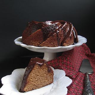 Chestnut Spice Cake with Chocolate Glaze.