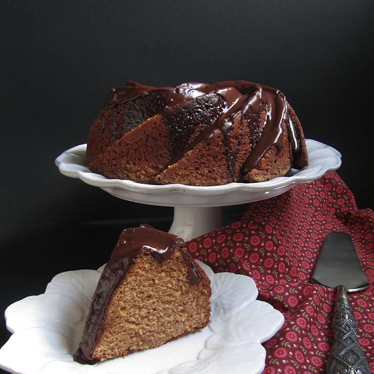 Chestnut Spice Cake with Chocolate Glaze