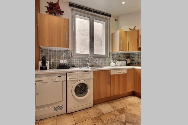 Fully equipped kitchen at 3 bedroom Serviced Apartment Victor Hugo