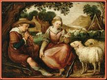 Anónimo holandes, Arcadia con pastores músicos
