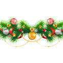 Christmas garland icon