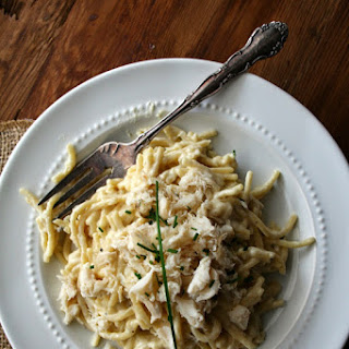 Lump Crab White Wine Fettuccine with Garlic Chives