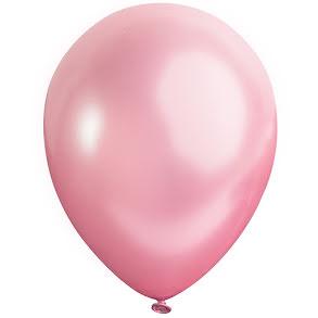 Ballong lösvikt satin, Rosa