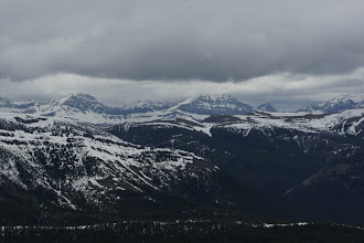 Photo: The divide peaks were all socked in.