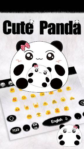Cute Panda Keyboard Theme screenshots 2