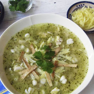 Green Posole with Chicken.