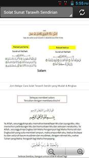 Solat Sunat Terawih Sendiri - náhled