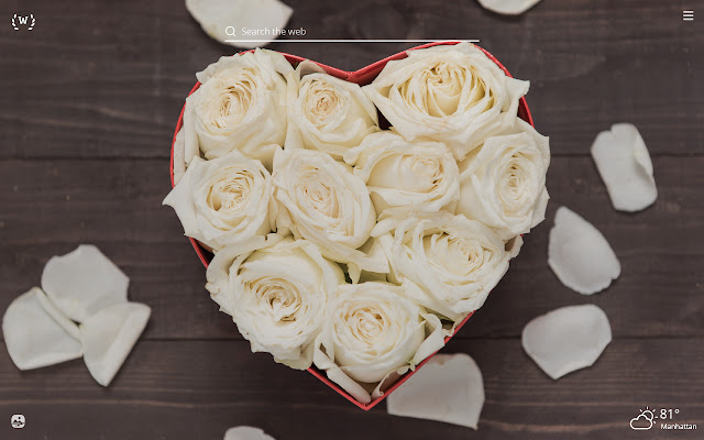 White Roses HD Wallpapers New Tab Theme