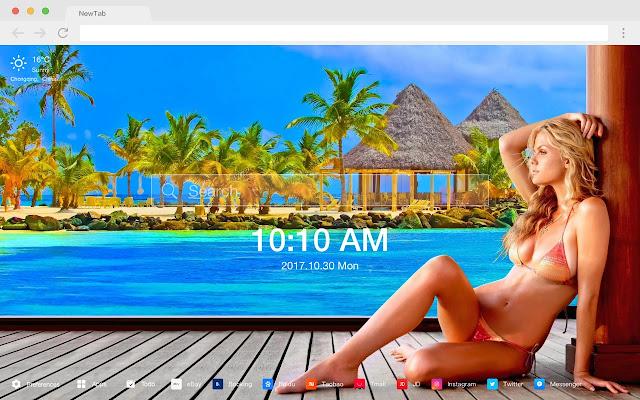 Bikini New Tab Page Top Wallpapers Themes