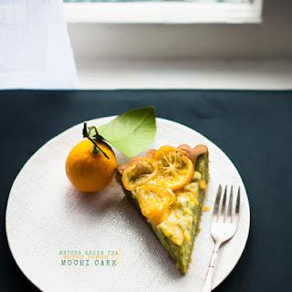 Matcha Green Tea & Meyer Lemon Mochi Cake