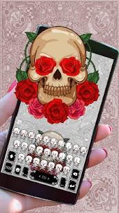 Tattoo Skull Keyboard Theme - náhled