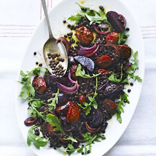 Spicy Chorizo with Lentils & Beetroot Recipe