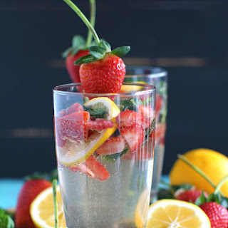 Strawberry Lemonade Vodka Club Soda.