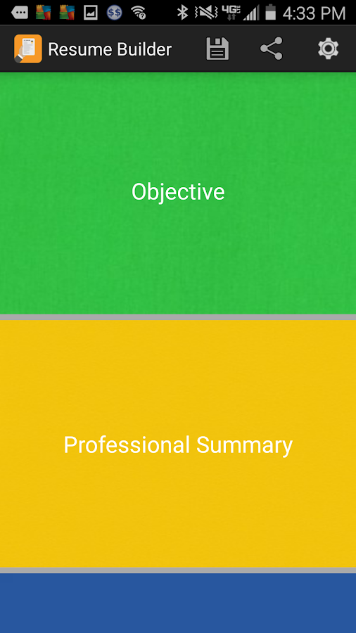 resume builder app screenshot - Resume Builder App