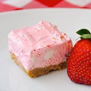 No Bake Strawberry Chiffon Squares