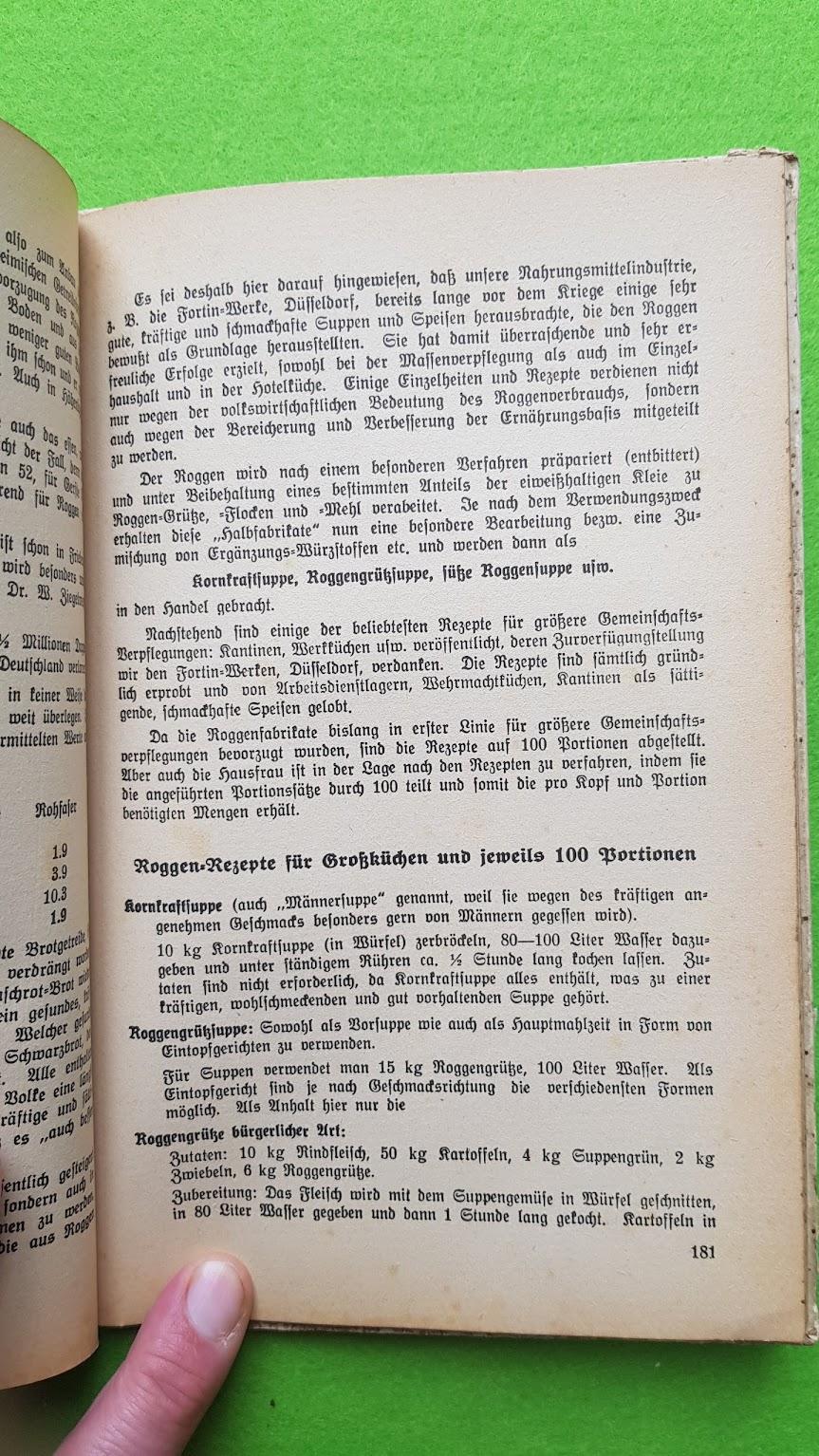 Eugen Bechtel, Nahrhaft, schmackhaft kochen - auch im Krieg!, 1940 - der Roggen