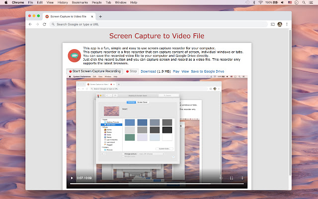 Screen Capture to Video File