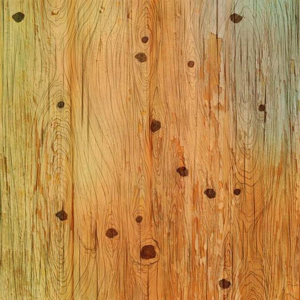 Olhe a imagem da madeira e localize em 10 segundos a figura do cachorro.  (Fotos: Facebook)