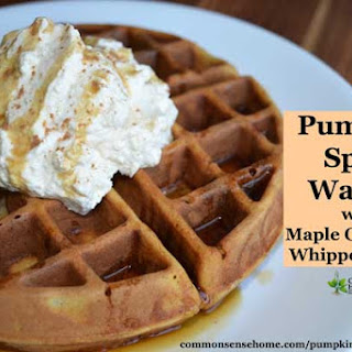 Pumpkin Spice Waffles with Maple Cinnamon Whipped Cream