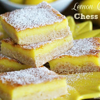 Lemon Chiffon Chess Bars.